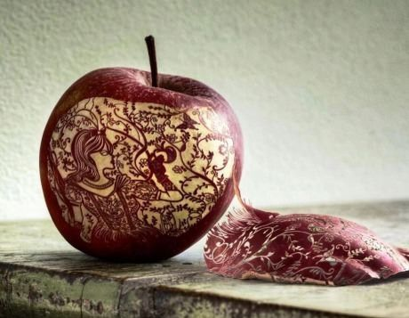 Apple peel carving