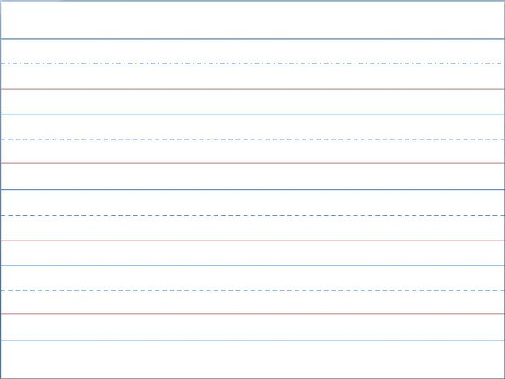 print kindergarten writing paper – Lined Paper Template Kids