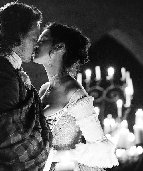 "Caitriona Balfe and Sam Heughan, ""Claire Fraser"" and ""Jamie Fraser"" #Outlander | Tumblr #OutlanderSeries Episode 107, ""The Wedding"""