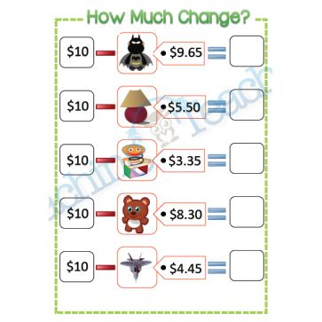 how much change toys subtraction from 10 australian money pinterest toys. Black Bedroom Furniture Sets. Home Design Ideas