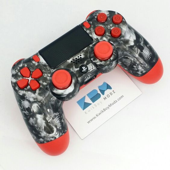 The Red Reaper PS4 Controller Is Now Available at http://www.KwikBoyModz.com/the-red-reaper-dualshock-4-ps4-controller/   #KwikBoyModz #CustomController #CustomControllers #Controller #Controllers #PS4 #DS4 #PS4Controller #DualShock4 #ReaperSkulls