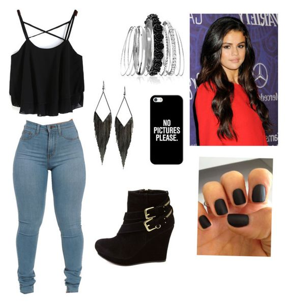 """""""Friday party outfit"""" by selenaguerrero on Polyvore featuring GUESS, Avenue, Casetify and Charlotte Russe"""