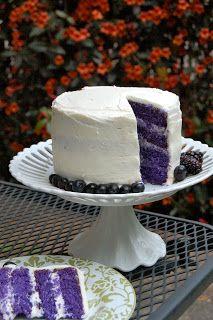 Purple velvet cake. Pretty for Easter