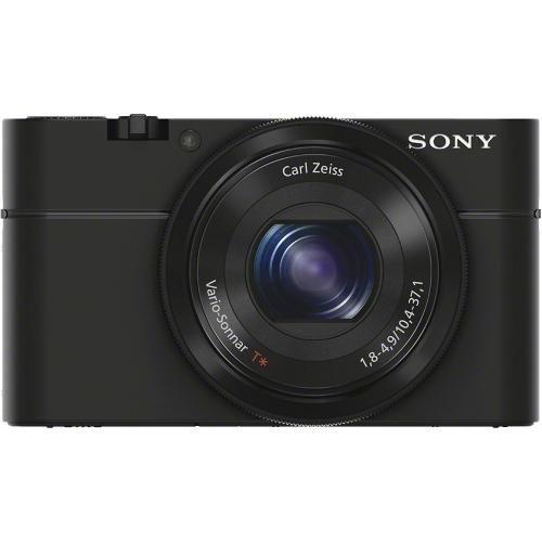 Sony - Cyber-shot DSC-RX100 20.2-Megapixel Digital Camera - Black - Front Zoom