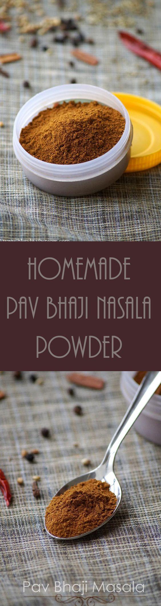 How to make Pav Bhaji Masala Powder at home - Homemade spice blend for pav bhaji, masala pav and tawa pulao. Step by step recipe. blendwithspices.com