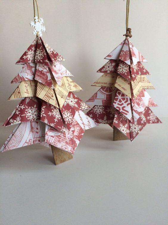 Handmade paper Christmas tree Christmas by MossflowerAbbey on Etsy