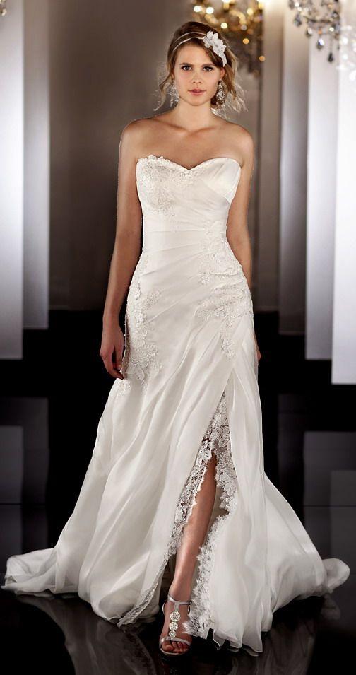 Robe de mariée fendue