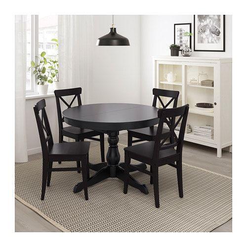 Ingatorp Extendable Table Black Max Length 61 Ikea Dining