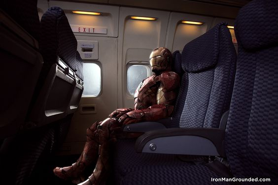 Iron Man Grounded -  How would Iron Man behave if had to face a common man's daily life?
