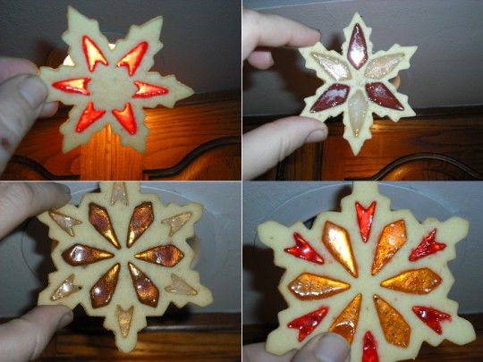 Stained glass christmas cookies recipe snowflake for Stained glass cookie recipe