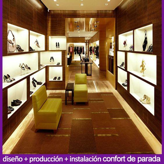 lujo modernos accesorios de la tienda de zapatos de moda