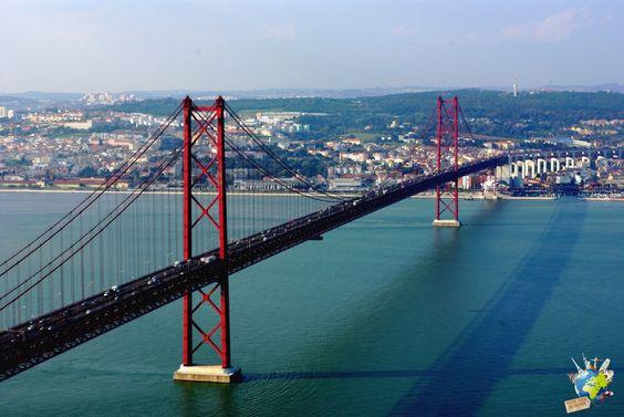 Top 5 des plus beaux points de vue de Lisbonne - Ponte 25 de Abril, Lisbon, Portugal