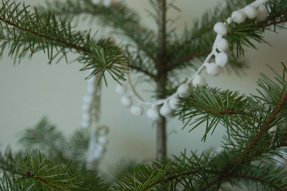 pompom trim for garland.  i think i will do this on one of my trees.