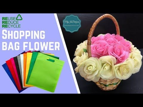 Plastic Cover Flower Making Designs Waste Plastic Bags Flower