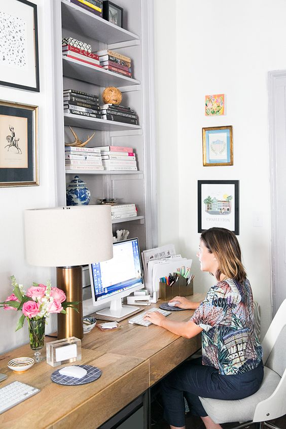 how to design a charming office in under 200 square feet charming office plants