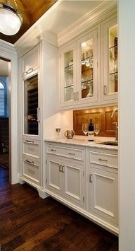 glass front cabinets with mirrored back