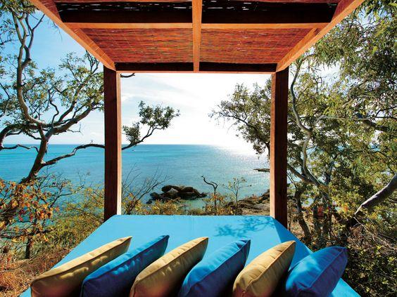 Lizard Island hotel on the Great Barrier Reef