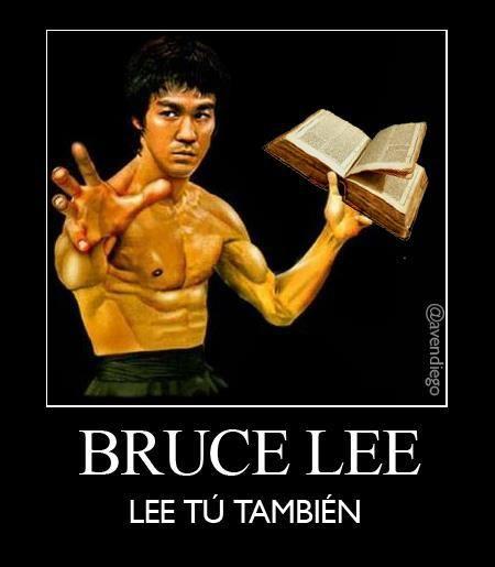 Bruce Lee!! Feliz Día del libro,.