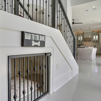 Under The Stairs Dog Bed, Transitional, Entrance/foyer ...