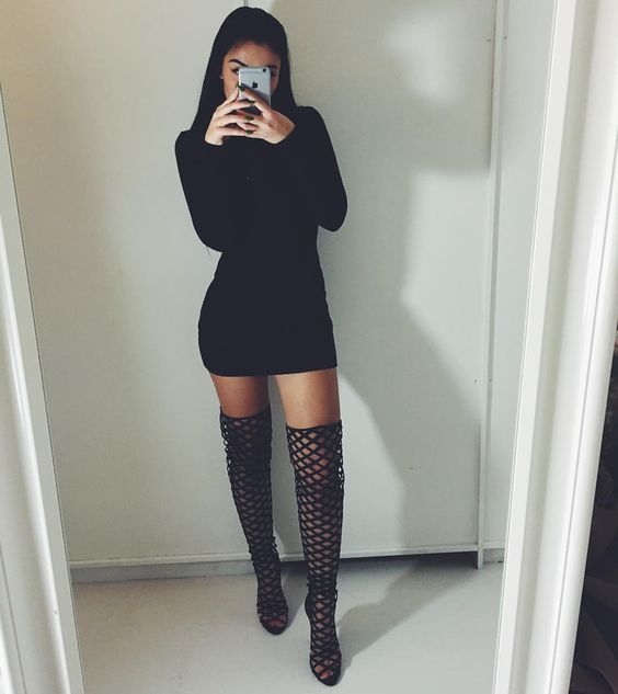 M E R C E D E S On Instagram Baddies Simmishoes Dressed To Slay Pinterest High Boots
