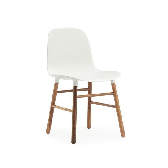 normann copenhagen stuhl form, weiß / wallnuss: amazon.de: küche