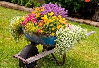 carrinho decoração jardim                                                                                                                                                     Mais