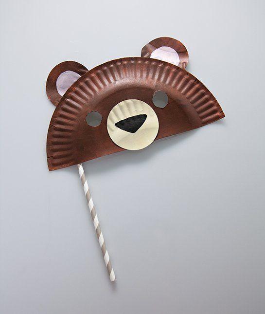 Papiertellermaske - Braunbär- Bär - Brown Bear