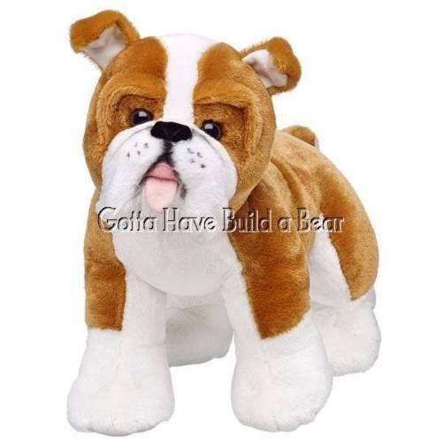 Build A Bear 15 Bulldog Dog Pup Unstuffed Plush Animal Nwt Custom Stuffed Animal Bear Stuffed Animal Plush Animals