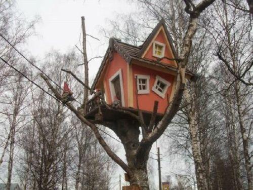 traumhafte baumhäuser pfirsichfarbe fenster märchenhaft