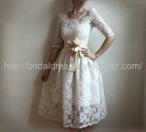vintage short wedding dresses for vow renewal | Vow Renewal Ideas