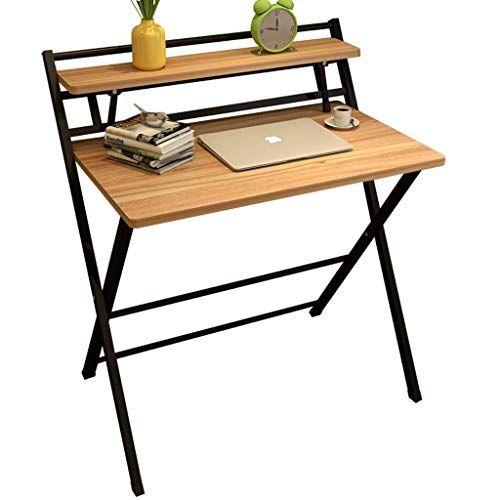 Bmwjrzd Wooden Folding Table Simple Home Desktop Computer Desk