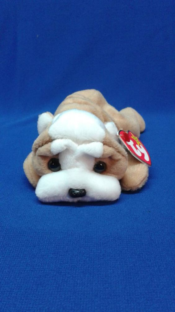 Check out this item in my Etsy shop https://www.etsy.com/listing/236501307/wrinkles-the-dog-ty-original-beanie-baby