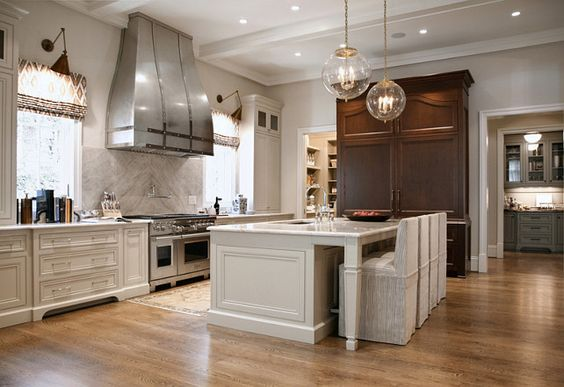 Warm white kitchen design gray butler s pantry home for Warm kitchen ideas
