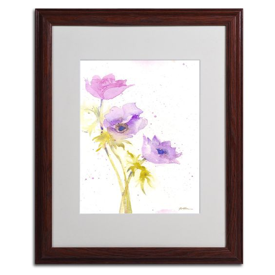 Trio by Sheila Golden Matted Framed Painting Print