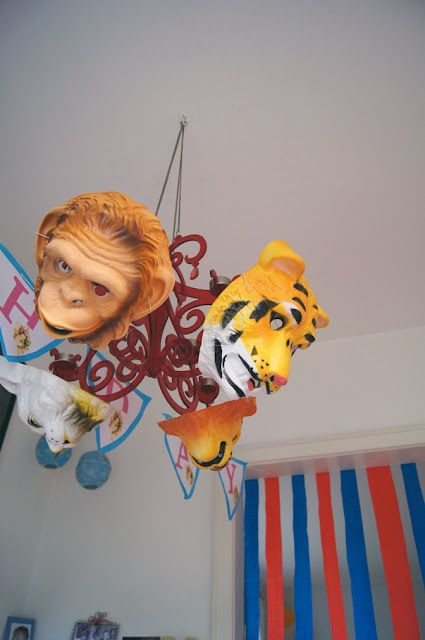 """The previous pin said, """"Circus Birthday Party,"""" but my mind said, """"the stuff nightmares are made of!"""""""