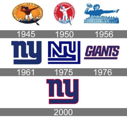 New York Giants Logo History New York Giants Logo Ny Giants Football New York Giants