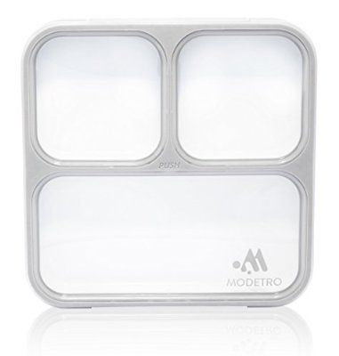 Bento Lunchpaket - 3 Portionen Leck Dichte Fächer - Einschließlich Isolierter Tasche - Ultra dünner Mittagessen Container
