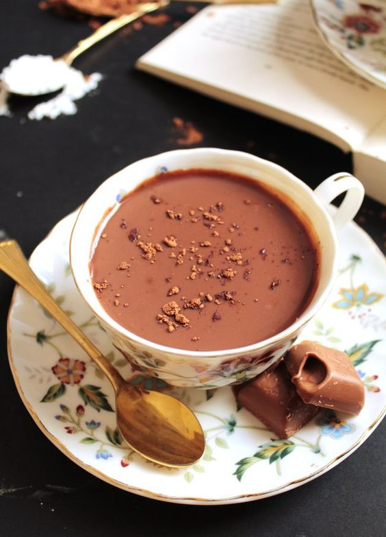 Lindt Italian Hot Chocolate | Deliciously warm and thick Lindt Italian hot chocolate (aka Ciccolata Calda). Ready in just five minutes using only five ingredients. @ikneadtoeat
