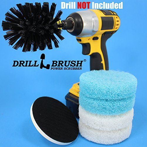 Electric Cleaning Rotary Brush Scrub Pad Tub And Tile Shower Kit