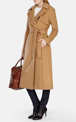WOOL LONGLINE CAMEL TRENCH COAT | Outfits | Pinterest | Coats