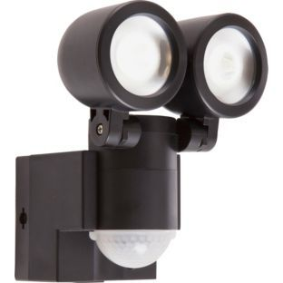 Spotlight twin and led on pinterest buy black led twin spotlight with pir at argos visit argos to shop online for security lights aloadofball Image collections