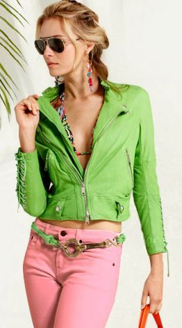Ralph Lauren Spring 2013 - casual chic in preppy green and pink.