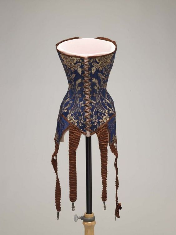 Corset with Attached Garters, ca. 1905-08via FAMSF