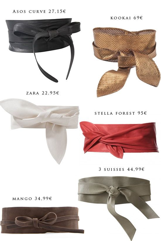 """Sélection ceinture """"obi"""" par Miss Zaza"""