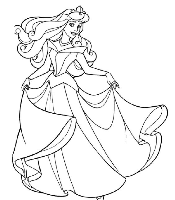 PRINCESS COLORING PAGES Coloring Pages Pinterest