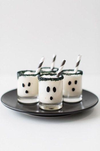 Ghoul's Guts Ice Cream Cake Shots