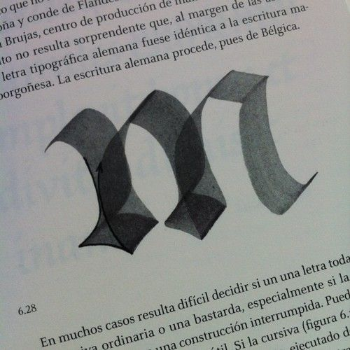 """Construcción de la """"m"""" - El trazo / Gerrit Noordzij #typography"""