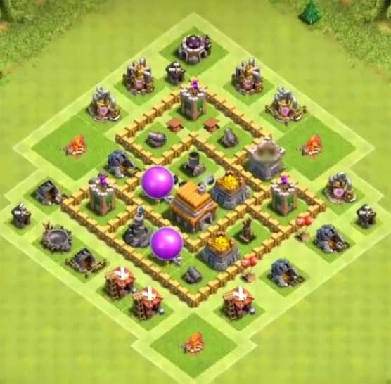 Th5 War Base Best Defense Layout 7