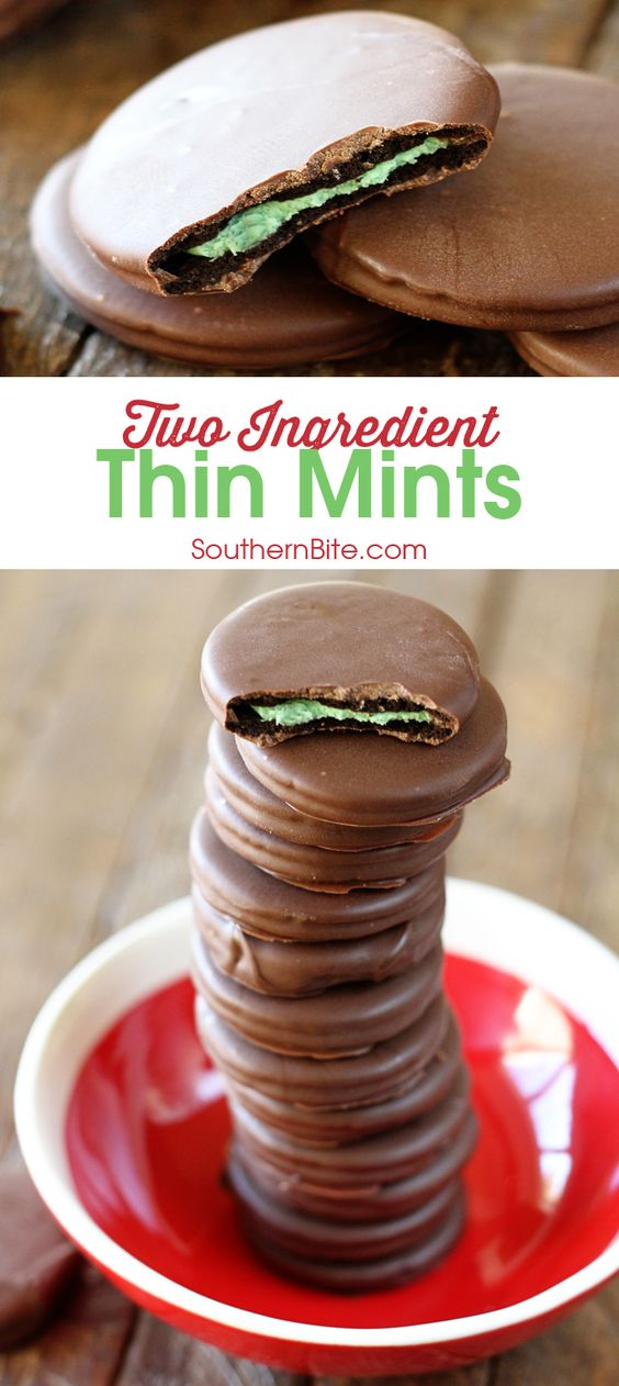 Two ingredients are all you need to make your very own Thin Mint copycats!