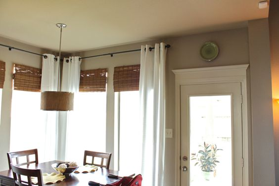 Sherwin Williams Balanced Beige paint color.: Bedroom Doors, Kitchen Window, Room Makeover, Crown Moldings, Kitchen Doors, Master Bedroom, Door Trim, Corner Window